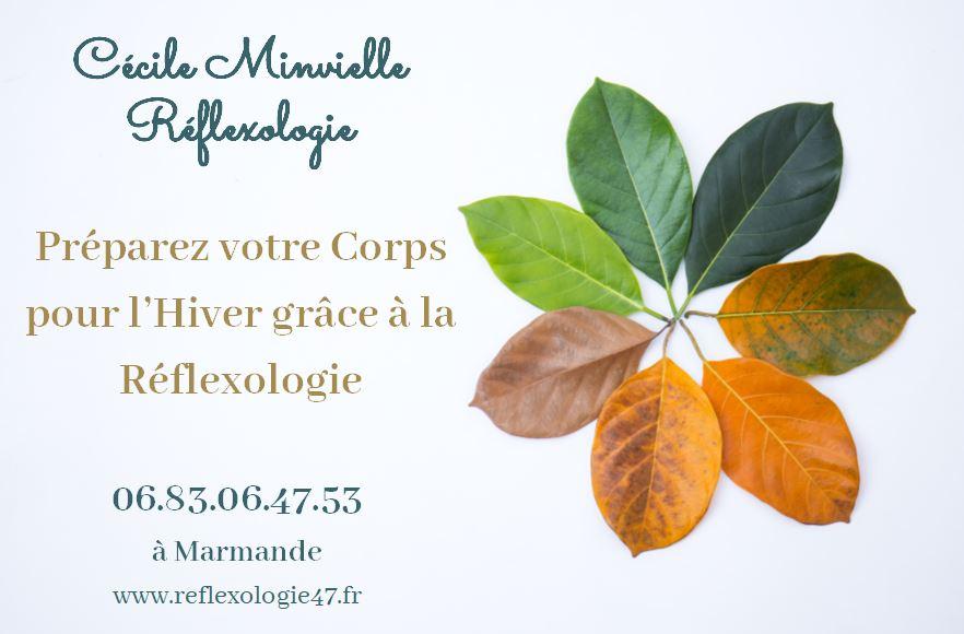 Cécile Minvielle changement saison réflexologie